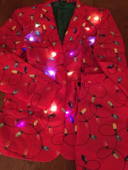 LIFE OF THE PARTY Christmas Lights Suit Jacket Trousers Flas