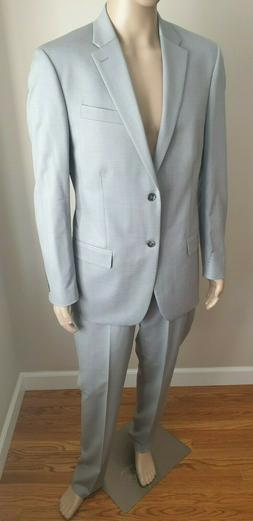 CALVIN KLEIN CK Men's Dress Suit Light Gray Regular Size 42R