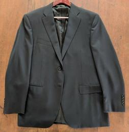 CANALI Classic Fit Navy 100% Wool Two Button Suit Jacket - S