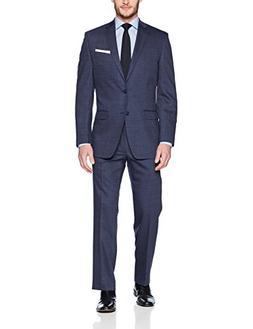 Calvin Klein Men's Classic Wool Suit, Medium Navy, 38 Regula
