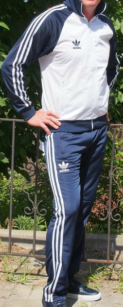 Classical Vintage ADIDAS track-suit 80s model WHITE top Blue