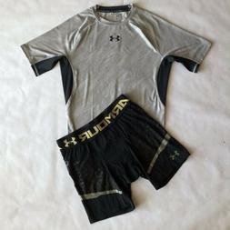 Under Armour Compression Suit Shirt And Short Mens Sz L Work