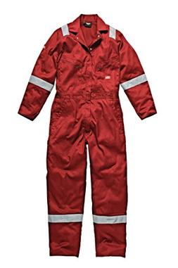 Dickies Men's Cotton Workwear Overalls Red L
