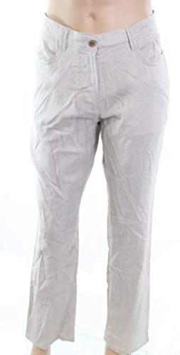 Cubavera Natural Mens 34X30 Dress Flat Front Pants Beige 34