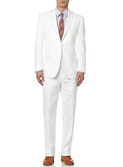 DTI BB Signature Italian Mens Two Button Linen Suit Modern F