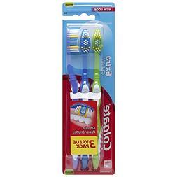 Colgate Extra Clean Toothbrush, Medium, 3 Count