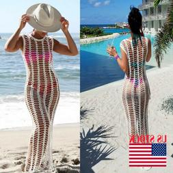 Fashion Women Bathing Suit Mesh Crochet Bikini Swimwear Cove