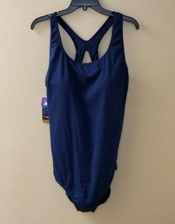 Speedo Fit One Piece Bathing Suit NWT Navy Plus Size 22