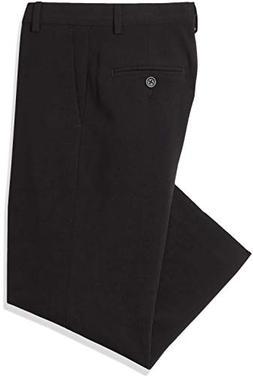 Calvin Klein Boys' 4-20 Black Flat-Front Bi-Stretch Pants