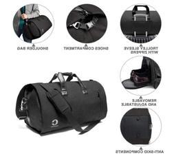 Foldable Travel Garment Bag Luggage Weekender Duffle 2in1 Su