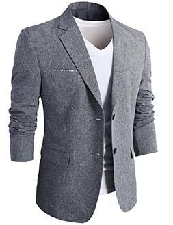 H2H Mens Formal Smart Suit Blazer with Flap Pockets Navy US