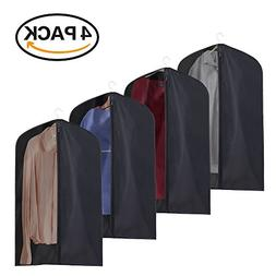 La Saveur 4 Pack Garment Bags for Cloths, Breathable Polyest