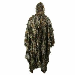 Ghillie Suit Outdoor 3D Leaves Camo Military CS Woodland Hun