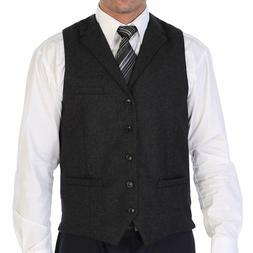 Gioberti Men's 5 Button Tailored Collar Formal Tweed Suit Ve