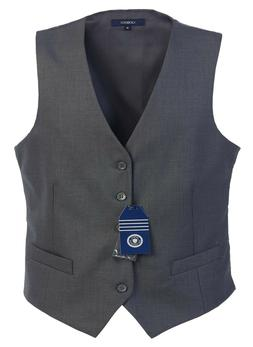 Gioberti Mens 5 Button Formal Suit Vest - Charcoal Gray - si