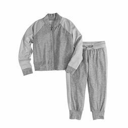 Rainbeau Girl's Tech Fleece Jacket with Pants Track Suit HEA
