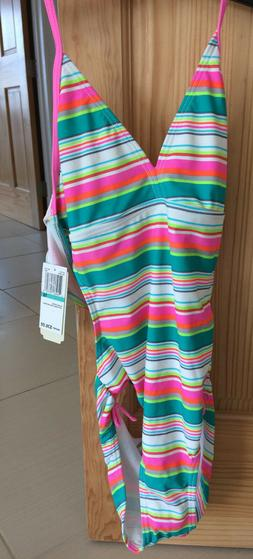 GB girls 16/XS Striped Bathing Suit