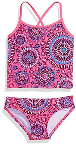 girls little melanie tankini swimsuit pink 4