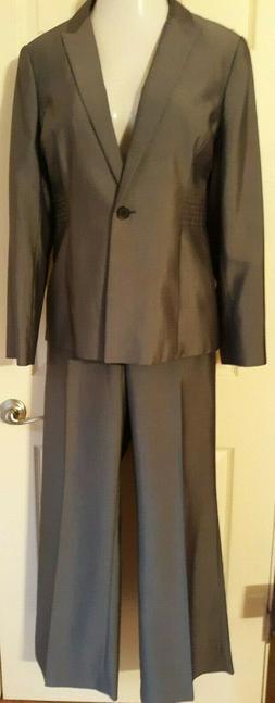 gray 2 piece pant suit size 14