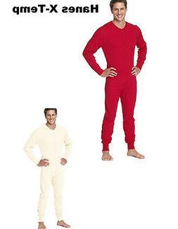 Hanes Men's X-Temp S - 2XL Thermal Union Suit Work Hiking Fi