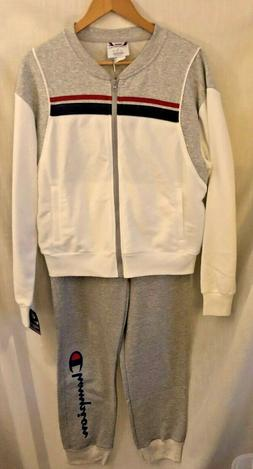 Champion Heritage Fleece Sweat Suit Oxford Grey/Oatmeal/Whit