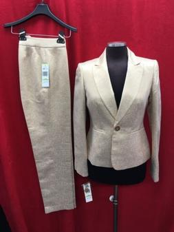 ALBERT NIPON  HOLIDAY PANT SUIT/GOLD/NEW WITH TAG/RETAIL$280