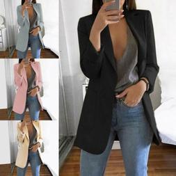 Hot Fashion Women Ladies Suit Coat Business Blazer Long Slee