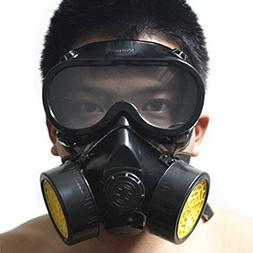 Vktech Industrial Gas Chemical Anti-Dust Respirator Mask Gog