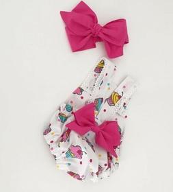 Infant Baby Girls Sleeveless Bodysuit Romper headband Summer