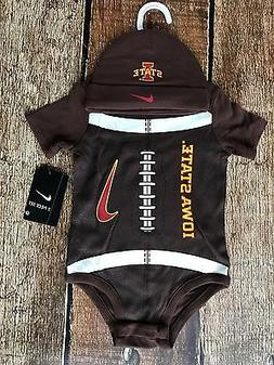 NIKE IOWA STATE BEANIE AND BODY SUIT COMBO BABY 6 - 9 MONTHS