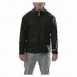 TINGLEY J67113 Rain Jacket w/Hood/Pockets,Stretch,Blk,L