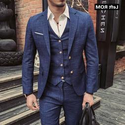 2019 New Fashion Boutique Men's Plaid Formal Business <font