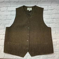 Jos. A. Bank 1905 Men's Big & Tall Brown Wool Suit Vest Wais