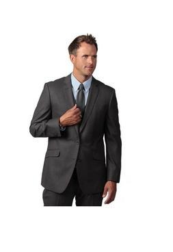 Kenneth Cole Men's Reaction Slim-fit Grey Suit Sport Coat