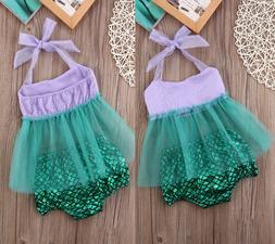 Kids Baby Girls Tulle Tops+Shorts Briefs Swimwear Swimsuit B