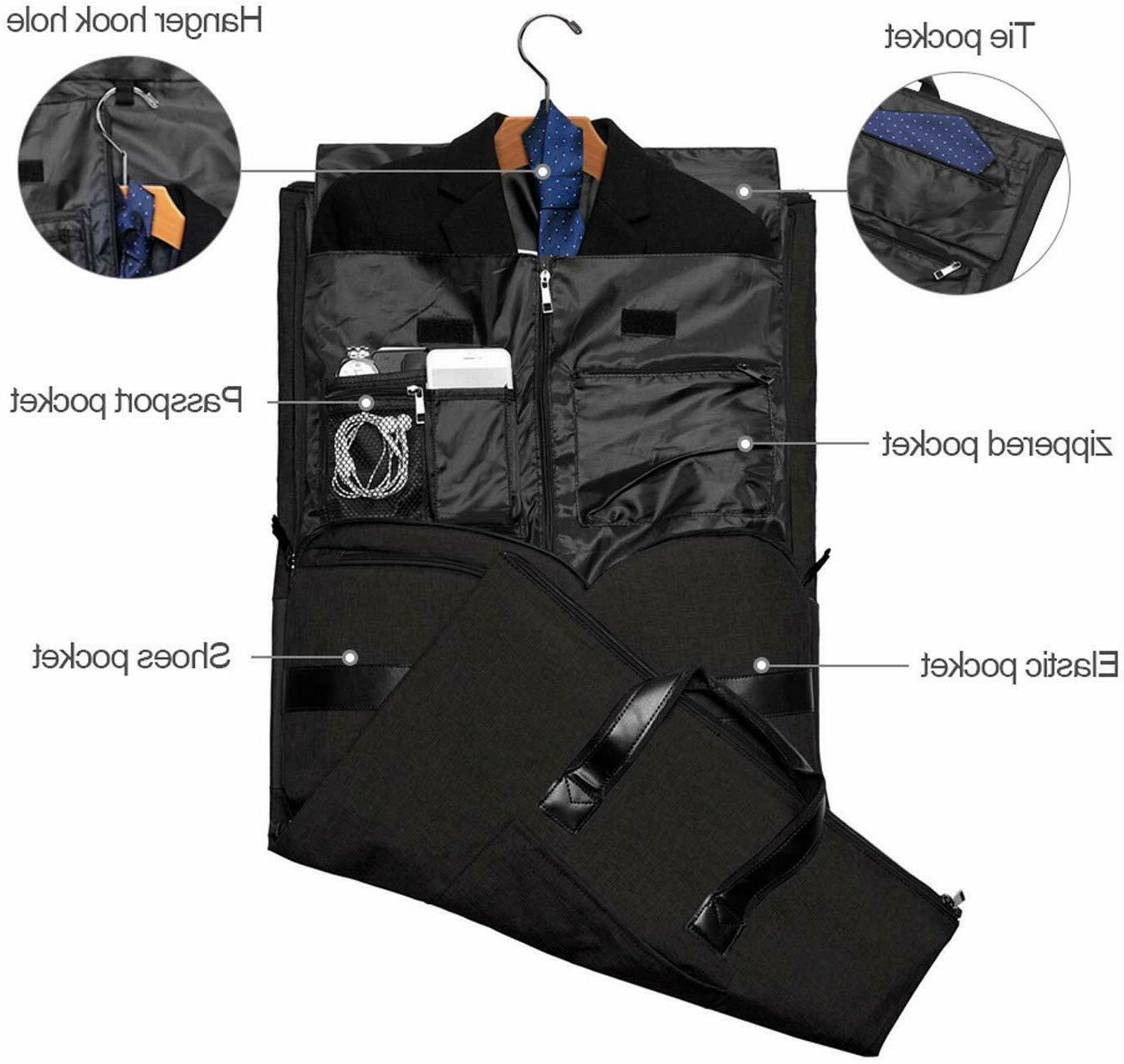 20 Inch Bag with Suits and Shoes Compartment -