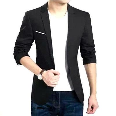 Formal One Button Blazer M-XXXL