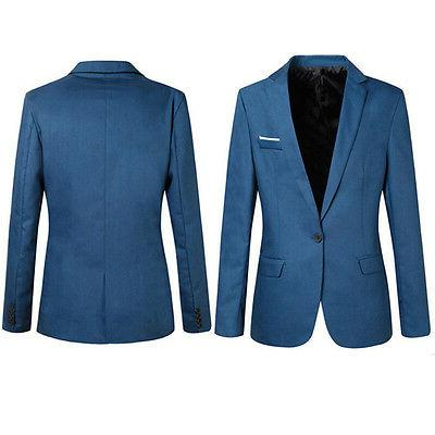 2018Casual Men's Slim Formal One Blazer Coat M-XXXL