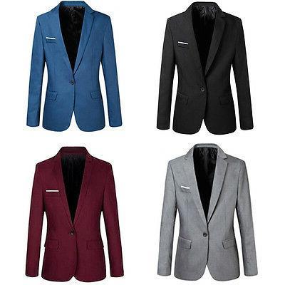 2018Casual Formal Blazer Jacket Tops M-XXXL