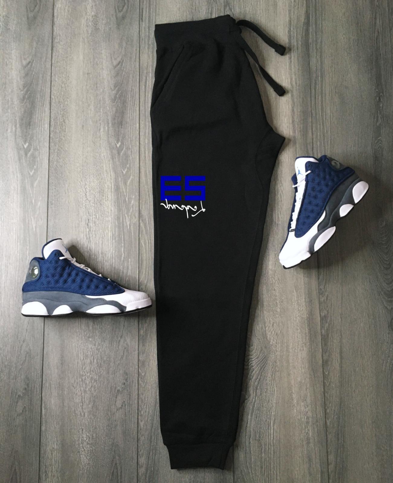 23 Black Blue Joggers To Match Jordan 13 Flint