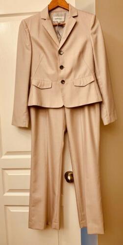 $250 Calvin Klein 2 Piece Blush Pink Pantsuit Jacket Blazer