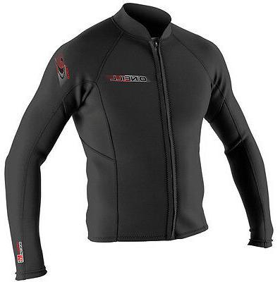 2mm Men's O'Neill SUPERLITE Wetsuit Jacket - Front Zip