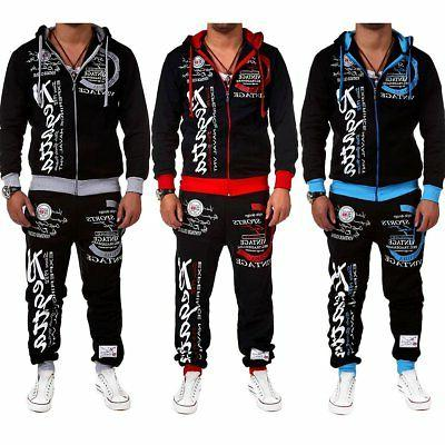 2PCS Tracksuit Hoodies Sweatshirt Wear