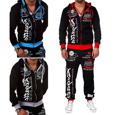 2pcs men s tracksuit hoodies sweatshirt pants