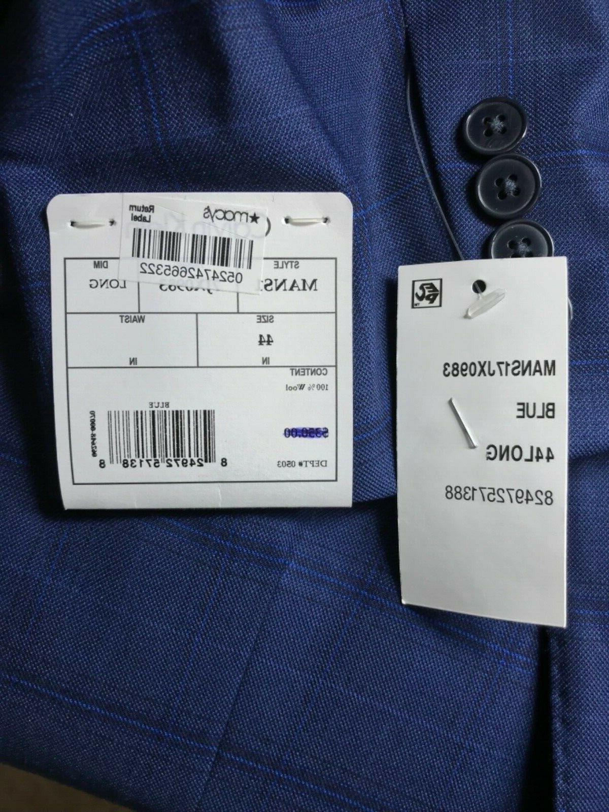 3225 NWT Mens Long Jacket Blazer 100%