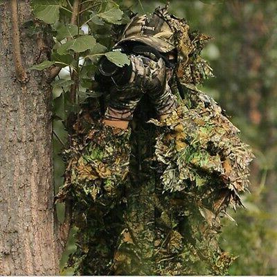 3D Ghillie Suit Sniper Train Leaf Forest USA