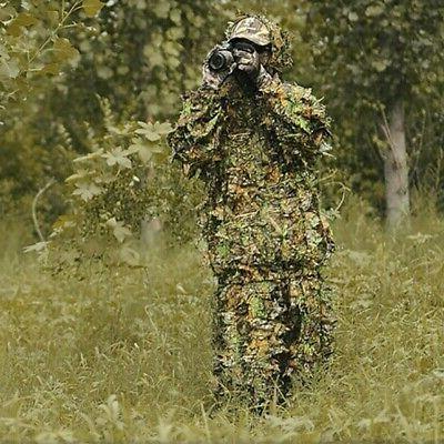3D Ghillie Suit Sniper Leaf Forest Hunting USA