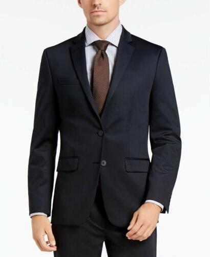 Van Heusen Flex Men's Slim-Fit Suit Jacket Navy Blue Blazer