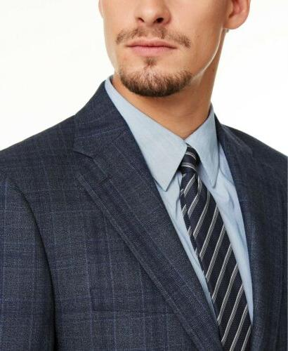 Calvin Blue Plaid Suit 42S