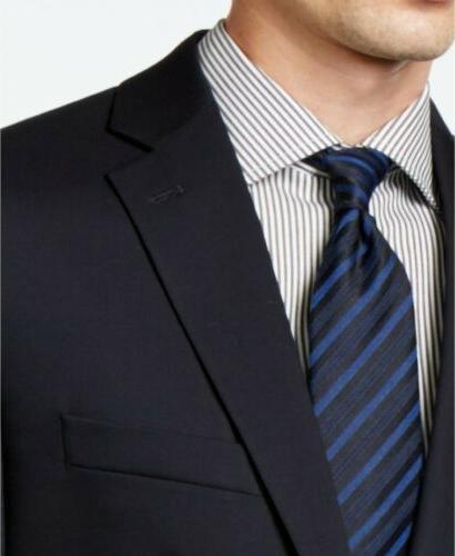 $450 Klein Navy Slim-Fit Suit 36R NEW